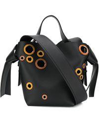 Acne Studios アイレット バケットバッグ - ブラック