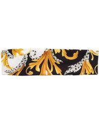 Versace Barocco-print Headband - Black