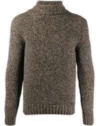 Zanone Turtleneck Chunky Knit Sweater - Brown