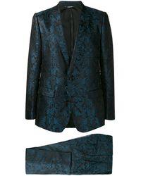 Dolce & Gabbana Jacquard Kostuum - Blauw
