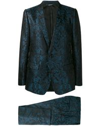 Dolce & Gabbana ジャカード スーツ - ブルー