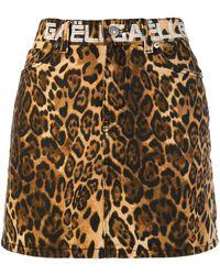 Gaëlle Bonheur Straight-cut Animal Print Skirt - Brown