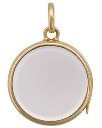 Loquet London Large Round Gold Locket Pendant - Yellow