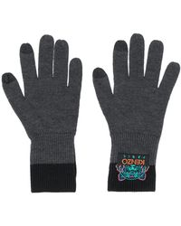 KENZO Tiger Knitted Gloves - Gray