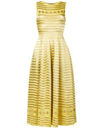 Antonino Valenti Ghita Long Metallic Design Dress - Yellow