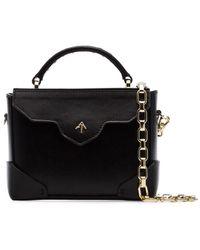 MANU Atelier Micro Bold Crossbody Bag - Black