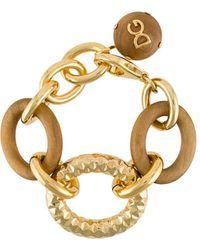 Dolce & Gabbana Ovesized Chain Link Bracelet - Metallic
