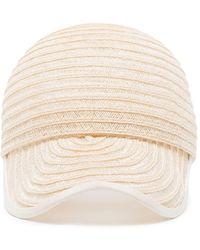 D'Estree Neutrals White Raymond Straw Cap - Multicolor