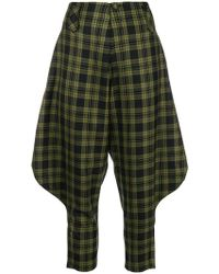 Ultrachic - Tartan Drop Crotch Tapered Trousers - Lyst