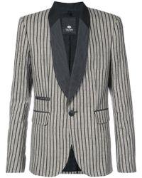 Tom Rebl - Striped Shawl Collar Blazer - Lyst