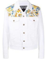Versace Jeans Couture Джинсовая Куртка С Принтом Versailles - Белый