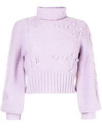 Alice McCALL Heaven Knows Roll-neck Sweater - Purple