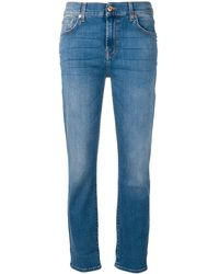 7 For All Mankind - ストーンウォッシュ スリムジーンズ - Lyst