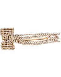 Rosantica Crystal-embellished Bow Hairclip - Metallic