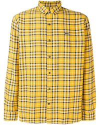 Lacoste L!ive Classic Check Shirt - Yellow