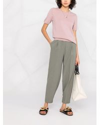 N.Peal Cashmere Crew Neck Cashmere T-shirt - Pink
