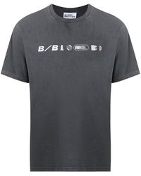 Blood Brother ロゴ Tシャツ - グレー
