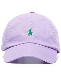 Polo Ralph Lauren Lilac Logo Embroidered Cotton Cap - Purple