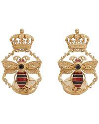 Dolce & Gabbana クラウンモチーフ カフスボタン - メタリック