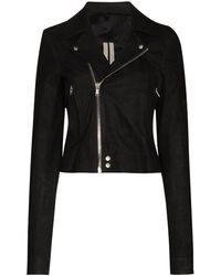 Rick Owens Байкерская Куртка Performa - Черный