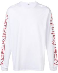 R13 Slogan Print Sweatshirt - White