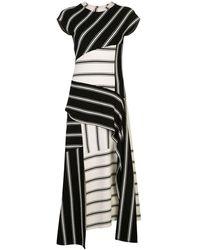 Monse ストライプ パッチワーク ドレス - ブラック