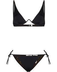 Fendi Bikini mit FF - Schwarz