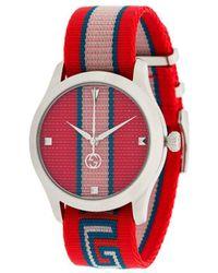 Gucci Часы 'GG Web' - Красный