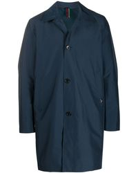 PS by Paul Smith Single Breasted Lightweight Coat - Blue