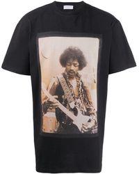 ih nom uh nit Jimi Hendrix Tシャツ - ブラック