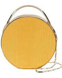Eddie Borgo Mini Wood Print Circle Tote - Yellow