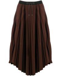 Fabiana Filippi Drawstring Pleated Skirt - Brown