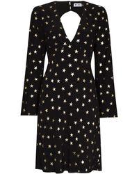 RIXO London Sophie スタープリント ドレス - ブラック