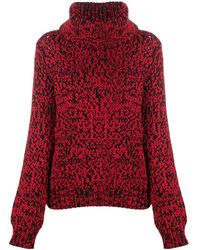 Mulberry Chunky Roll-neck Jumper - Red