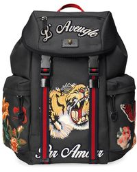 Gucci Techpack With Embroidery - Black