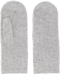 Isabel Marant Ribbed Knitted Mitts - Gray