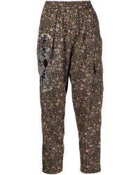 Raquel Allegra Pantalones capri con estampado floral - Multicolor