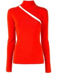 Dion Lee Cut Out Detail Knitted Top - Red