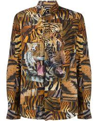 Just Cavalli Рубашка С Длинными Рукавами И Логотипом - Многоцветный