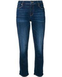 PAIGE Jean slim crop - Bleu
