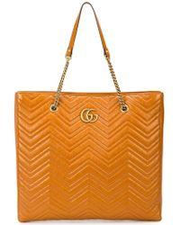 Gucci - GG Marmont Matelassé Large Tote - Lyst