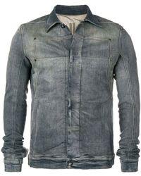 Rick Owens Drkshdw - Faded Denim Jacket - Lyst