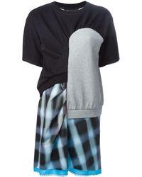 Marc By Marc Jacobs Robe t-shirt à design patchwork - Noir