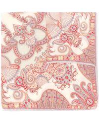 Etro Paisley Print Scarf - Red