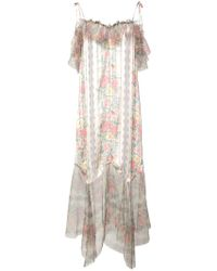 Anna Sui - Whisper Rose Tulle Dress - Lyst