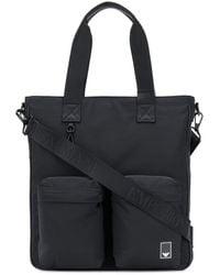 Emporio Armani マルチポケット ハンドバッグ - ブラック