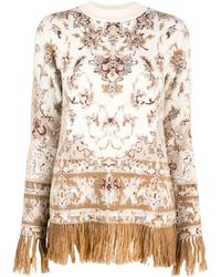 Paco Rabanne Fringed Knitted Sweater - Multicolor