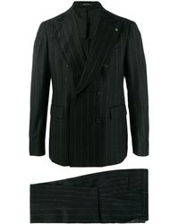 Tagliatore Pinstripe suit - Noir
