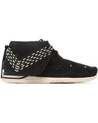 Visvim Black Fbt Lhamo Sashiko Folk Boots