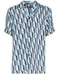 Frescobol Carioca Рубашка Fresco С Принтом - Синий